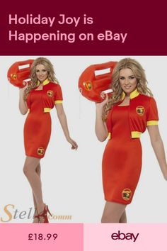 30021b6afd99 Ladies Baywatch Beach Lifeguard Costume 80s Fancy Dress Womens Outfit