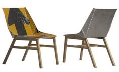 Fun and funky chairs from road signs!
