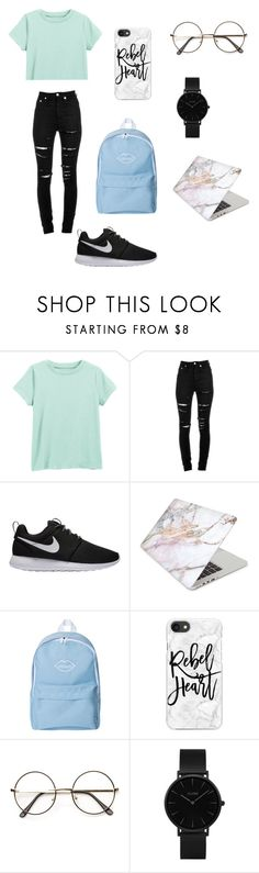 """"""".,.,.,.,."""" by caitlinkansil on Polyvore featuring Yves Saint Laurent, NIKE, Recover, Casetify, ZeroUV and CLUSE"""