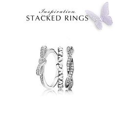 Love these stackable rings from Pandora!! <3