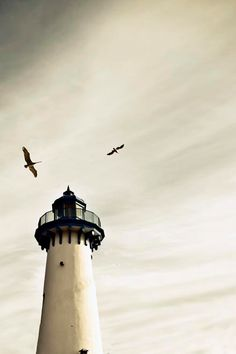 Lighthouse Photograph, Nautical Decor, White, Blue, Gray, Shabby Chic Beach…