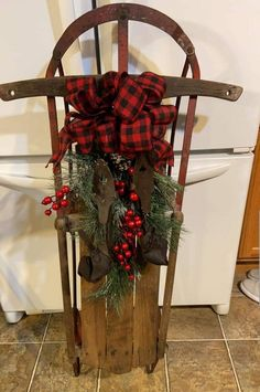 Your place to buy and sell all things handmade Christmas Sled, Christmas Holidays, Christmas Wreaths, Love Decorations, Handmade Christmas Decorations, Seasonal Decor, Holiday Decor, Holiday Crafts, Holiday Ideas