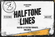 Halftone Lines - Texture Pack by Design Spoon on Creative Market