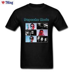 Hipster T Shirt Depeche Mode Men's T-shirts Team Cotton Crewneck Plus Size Short Sleeve Street Style Tee Shirts Homme #Affiliate