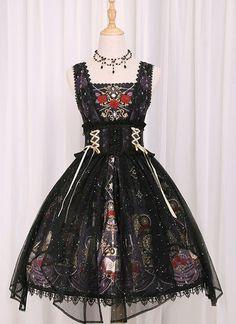 Fairytale Forest -The Mirror of Metempsychosis- Lolita JSK Version I,Lolita Dresses, Harajuku Fashion, Kawaii Fashion, Lolita Fashion, Cute Fashion, Pretty Outfits, Pretty Dresses, Beautiful Dresses, Mode Lolita, Estilo Lolita
