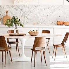 Beautiful white kitchen diner | redesign by Marie-Laure Helmkampf