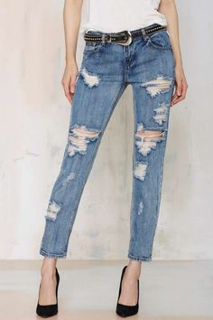 One Teaspoon Awesome Baggies - Cobaine - Denim
