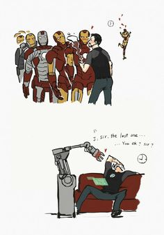Wall | VK........Stark and his Suits