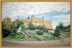 castle in Lublin - oil painting