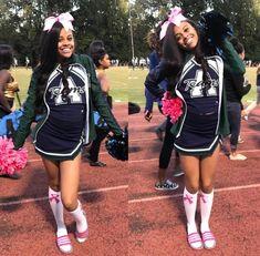 Pinterest KieriaAsia Black Cheerleaders, Cheerleading Uniforms, Cheerleading Cheers, College Cheerleading, Cheer Practice Outfits, Cheer Outfits, Matching Outfits Best Friend, Best Friend Outfits, Cheer Tryouts