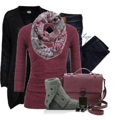 Cranberry Winter, the bag is not really my style but the outfit is cute.