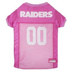 Oakland Raiders Pets First Pink Pet Football Jersey - Pink L 173383bec