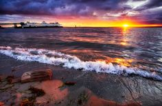 Beautiful Beach Sunset in Edmonds Washington by Michael Matti Starfish Accents Shantih / Omar Gandhi Architect Beautiful Beach Sunset, Best Sunset, Beautiful Beaches, Photos Bff, Travel Photos, Edmonds Washington, Washington State, Seattle Washington, Day Trips From Seattle