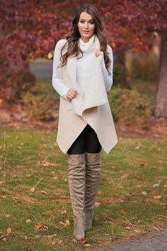 I'll Love You Furever Fur Lined Suede Vest (Cream) - NanaMacs.com - 1