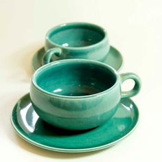teal colorful cup