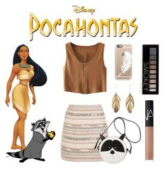 """""""Pocahontas"""" by denise-ocean ❤ liked on Polyvore featuring Disney, New Look, Gucci, Casetify, Aurélie Bidermann, Forever 21 and NARS Cosmetics"""