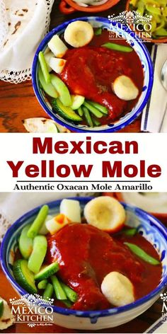 Mole Amarillo or Oaxacan Yellow Mole, one of the most popular Moles in Oaxaca. It can be made with pork or chicken, and also be used as an empanada filling. Pickled White Onions, All Spice Berries, Mexican Chicken Recipes, Mexico Food, Empanada, Vegetarian Options, Chicken Fajitas, Kitchen Recipes, Recipes
