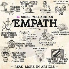 Empath Traits, Intuitive Empath, Trauma, Empath Abilities, 12 Signs, Book Of Shadows, Spiritual Awakening, Spiritual Enlightenment, Intuition