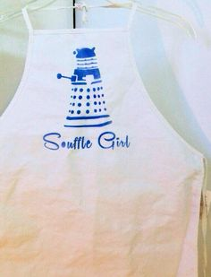Souffle Girl, Clara Oswald, Doctor Who, Dalek, Apron by LunaLovegoodIsOk on Etsy https://www.etsy.com/listing/157367496/souffle-girl-clara-oswald-doctor-who