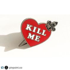 #Repost @pinpoint.co  Feeling like death after this weekend? Our fresh #killmepin is up in the shop #Bikinikill #kathleenhanna  (Reposted by www.bbllowwnn.com) #squadlit #pin #pins #enamelpins #enamelpin #lapelpin #lapelpins #pingame #pinlife #patchgame  #hatpin #hatpins #pingamestrong #pingameproper #pinnation #hatpinsforsale