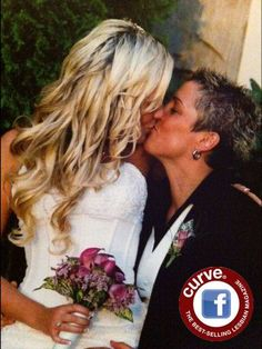 Curve Weddings: Celebrating the magical day of our Curve readers!  This is Cassie and Amie Lawson celebrating 5 yrs oct. 10th! Congratulations ladies!!!   #smooch