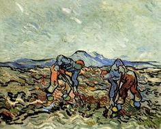 Vincent van Gogh, Peasants Lifting Potatoes, 1890 on ArtStack #vincent-van-gogh…