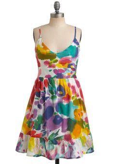 Bloom Brightly Dress, #ModCloth