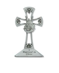 Tabletop Baptism Guardian Angel Cross