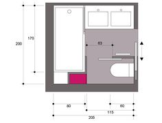 Salle de bain carrée de 4m²