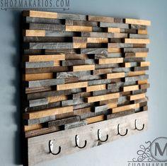 Wood Tile Coat Rack