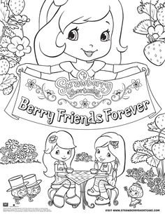 Download a Strawberry Shortcake Coloring Page