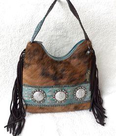 55cca5cf1810 Raviani Western Leather Handbag Purse Swarvoski Crystal Conchos   Brindle  Hide  Raviani  ShoulderBag