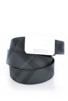 180dcd0c486 Burberry Men s Brit Check Plaque Belt-Black-34 Inch   90 Cm Burberry.   159.99