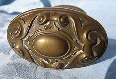 Antique Brass Ornate Set Oval Door Knobs Knobs And Knockers, Knobs And Handles, Vintage Door Knobs, Antique Brass, Doors, Antiques, Ebay, Antiquities, Antique