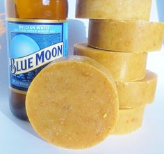 I need this for my shower asap!  Blue Moon Beer soap!