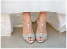 Schattige, subtiele sandaaltjes met fijne glitters.