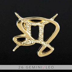 26 Gemini and Leo Gold Unity Pendant by UnityDesignConcepts, $99.99