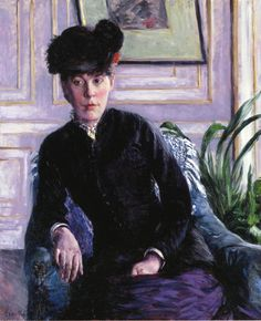 Portrait of a Young Woman in an Interior - Gustave Caillebotte