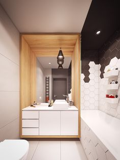 Next Lifetime // Warszawa on Behance  - cool wooden framing and I like the cabinet.  I could see how it could look cheap if it's not the right cabinet though...