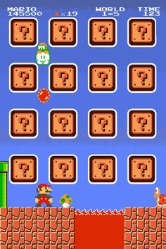 Mario Bros iPhone icon screen