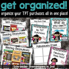 organize your TPT file and freebies all in one place!