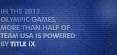 The 2012 Summer Olympics kick off today! Did you know that for the first time ever, women make up more than half of Team USA? Please repin to spread the news!
