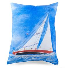 24.99-Shop Wayfair for lava Sailboat Painted Throw Pillow - Great Deals on all Decor products with the best selection to choose from! 16 X 4 X 20H