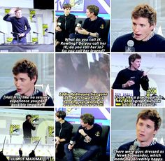 Eddie Redmayne - Fantastic Beasts and Where to Find Them SDCC 2016 - I was sorted into Hufflepuff, and it was the most exciting moment in my life.