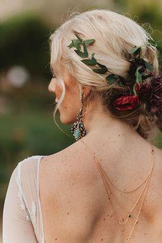 Custom Birthstone Bridal Back Necklace @DeLaLuna.us