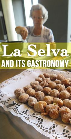 La Selva, an off-the-beaten-path region of Catalonia, Spain has a very rich gastronomy! Sweet apple-flavored bunyols on the picture