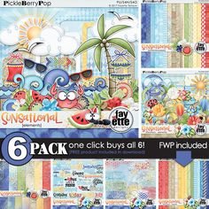 Sunsational  {6-Pack plus FWP} by Fayette Designs