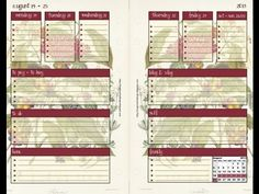 Filofax and Franklin Covey printable inserts - August 2013 two pages per week and project manager. Franklin Covey Planner, Life Organization, Organizing Life, Planning Your Day, Planner Inserts, Project Management, Filofax, Getting Organized, August 2013