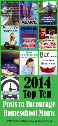 Top Ten Posts to Encourage Homeschool Moms from homeschool encouragement