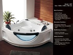 Whirlpool Bathtubs | Waterfall Bathtub | Jacuzzi bathtub | Bathtubs in india - RAY -   #WhirlpoolBathtubs, #WaterfallBathtub